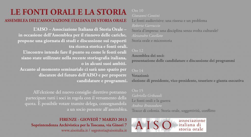 Invito Assemblea 7 marzo AISO